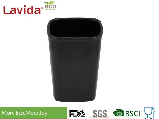 Cina Black Home Gunakan Melamine Coffee Mugs, Food Grade Ceramic Coffee Cup Square 300ml pemasok